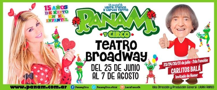 Panam y Circo en el Teatro Broadway 2016: Precios y entradas en venta