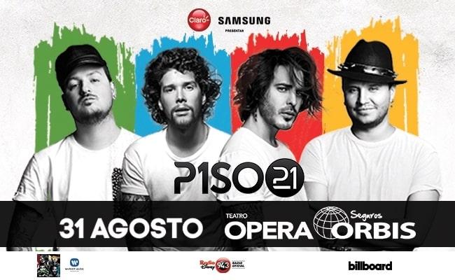 Piso 21 en Argentina 2018 (Teatro Opera): Precios y entradas en venta