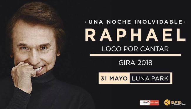 Raphael en Argentina 2018: Precios y entradas en venta