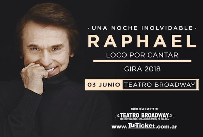 Raphael en Rosario 2018: Precios y entradas en venta