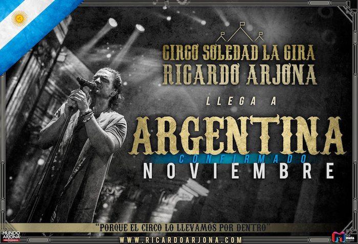 Ricardo Arjona en Corrientes 2017: Precios y entradas en venta