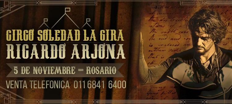 Ricardo Arjona en Rosario 2017: Precios y entradas en venta