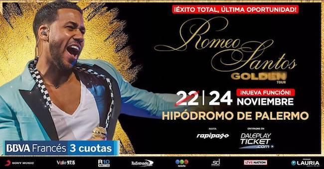 Romeo Santos en Argentina 2018: Precios y entradas en venta