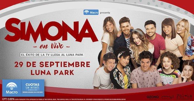 Simona en el Luna Park 2018: Precios y entradas en venta