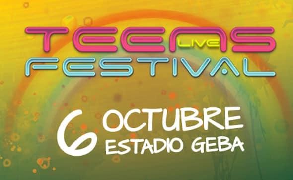 Entradas para el Teens Live Festival 2012 en Argentina: Estadio GEBA