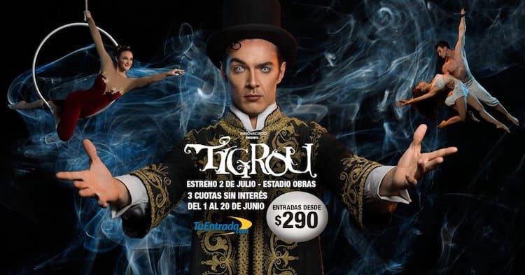 Tigrou en Buenos Aires 2016: Precios y entradas en venta