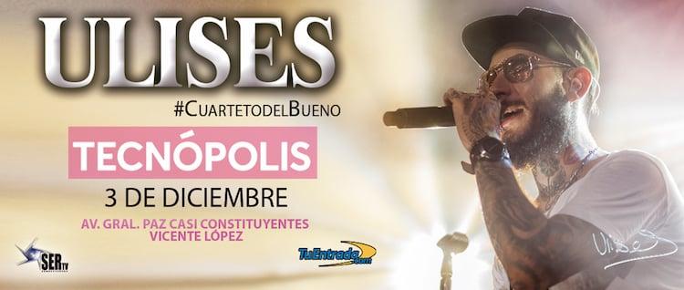 Ulises Bueno en Tecnopolis 2017: Precios y entradas en venta