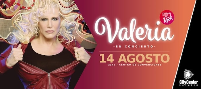 Valeria Lynch en Rosario 2018: Precios y entradas en venta