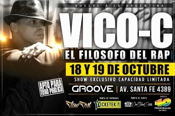 Entradas para Vico C en Argentina 2012: Groove