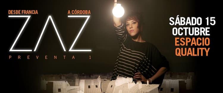 Zaz en Córdoba 2016: Precios y entradas en venta
